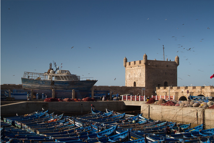 Essaouira on the Atlantic coast.